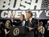 Một buổi vận động của Bush - Cheney.