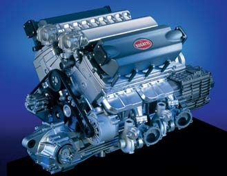 Động cơ W16 của Bugatti Veyron 16.4 (Seriouswheels)
