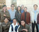 Các nhà báo Việt Nam và một số người Việt hiện sinh sống ở Tel Aviv. Ảnh: Thanh Niên.