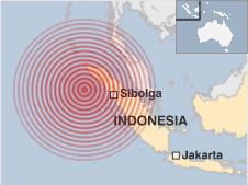 Sơ đồ khu vực xảy ra động đất. Nguồn: BBC.