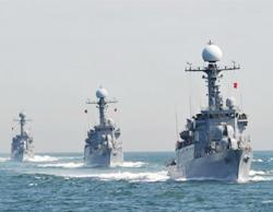 Tàu tuần tra Hàn Quốc trong một cuộc tập trận của hải quân nước này.