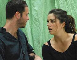 Ruth Mortimer và Daniel Lewitt trong một buổi tập dượt vở Closer cho show diễn. Ảnh: Katharine Cameron.