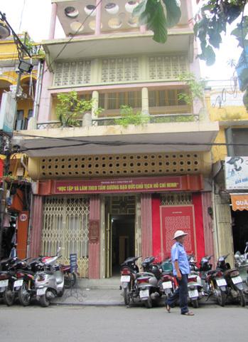 Ngôi nhà số 48 Hàng Ngang, nơi Bác Hồ viết bản tuyên ngôn độc lập. Ảnh: Hoàng Thùy.
