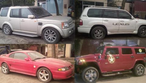 4 trong 5 chiếc xe buôn lậu bị cơ quan điều tra phát hiện.