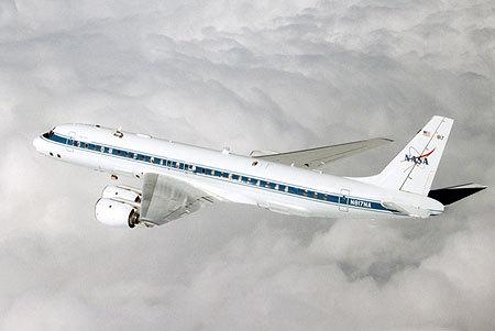 Máy bay nghiên cứu Douglas DC-8 của NASA. Ảnh: