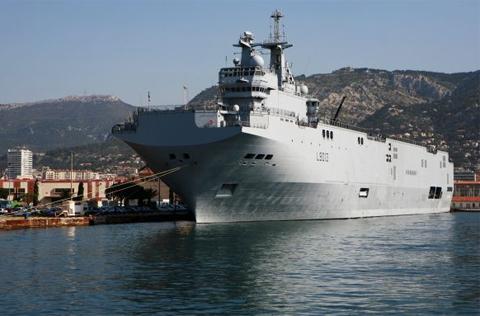 Một tàu chiến lớp Mistral do Pháp chế tạo. Ảnh: wikimedia.