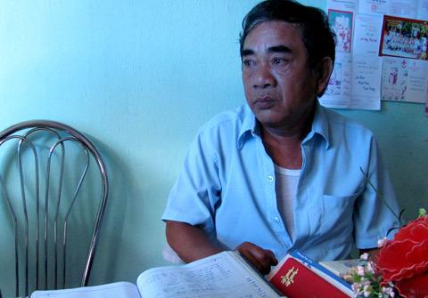 Ông Nguyễn Văn Hoàng, trưởng nhóm thiện nguyện.