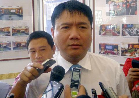 Tân bộ trưởng Đinh La Thăng. Ảnh: Việt Anh