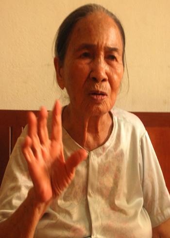 Mẹ Việt Nam anh hùng Nguyễn Thị Thư quê ở xã An Nghĩa, huyện Hoài Ân, tỉnh Bình Định nói