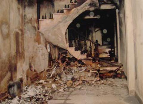 Hiện trường vụ cháy nhà anh Nguyễn Chí Hưng.