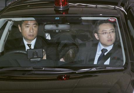 Chiếc xe hơi chở Makoto Hirata