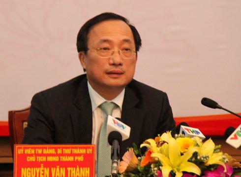 Bí thư Thành ủy Nguyễn Văn Thành. Ảnh: Xuân Hoa