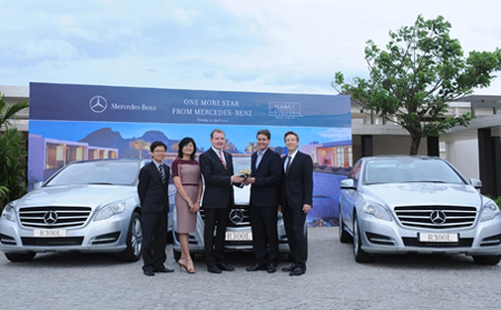 Mercedes-Benz Vietnam và Đại lý An Du Đà Nẵng bàn giao lô xe Mercedes-Benz cho khách sạn Hyatt Regency Đà Nẵng Resort & Spa.