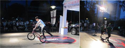 Buổi thi đấu Break dance & BMX do IVC tổ chức.