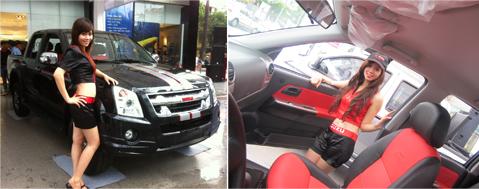 Chỉ có 100 chiếc Isuzu D-Max X Limited tại Việt Nam - Hạng mục tùy chọn cho D-Max X Limiited: Bộ ghế da và ốp cửa hai màu đen đỏ cao cấp tiện nghi.