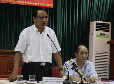 Theo ông Nguyễn Văn Thanh, khiếu nại của các hộ dân Dương Nội là vụ việc được Thanh tra Chính phủ làm kỹ nhất từ trước tới nay. Ảnh: Nguyễn Hưng.