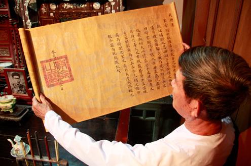 Châu bản vua Khải Định ban cho công chúa Ngọc Sơn được cất giữ cẩn thận và còn nguyên vẹn sau gần 100 năm.