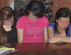 Các cô gái trong đường dây mại dâm của tú ông Sơn.