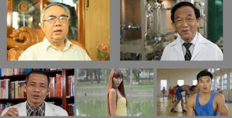 Những nhân vật tham gia bộ phim tuyên truyền bảo vệ động vật hoang dã.
