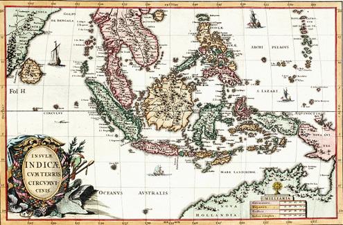 Scherer Atlas Novus, Đức, năm 1970 cho thấy lãnh thổ của Trung Quốc không có Hoàng Sa, Trường Sa. Ảnh: Trần Thắng