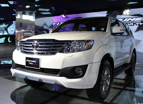 Fortuner TRD trong gian hàng Honda tại Việt Nam Motor Show 2012.
