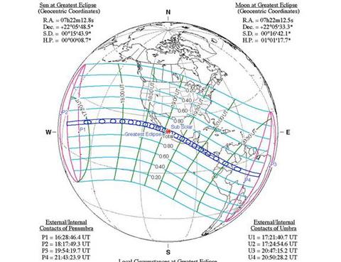 Hiện tượng nhật thực ngày 11/7/1991.