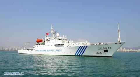 Tàu Hải giám 83, một trong các tàu Trung Quốc đang tuần tra trái phép tại Hoàng Sa. Ảnh: Xinhua