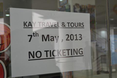 Công ty Du lịch Ấn Độ đóng cửa đình công. Ảnh: