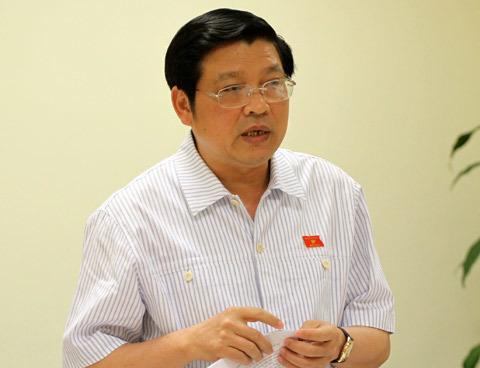 Phó trưởng ban Nội chính trung ương Phan Đình Trạc, Trưởng đoàn đại biểu Quốc hội Nghệ An. Ảnh: Nguyễn Hưng.