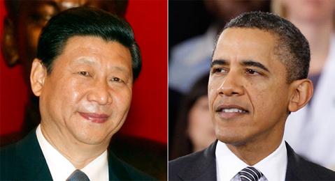 Chủ tịch Trung Quốc Tập Cận Bình và Tổng thống Mỹ Obama. Ảnh: Politico.