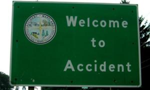Biển báo tiếng Anh: Chào mừng đến với tai nạn