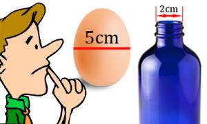 Nhiều người bỏ lọt quả trứng qua cổ chai 2cm, còn bạn?