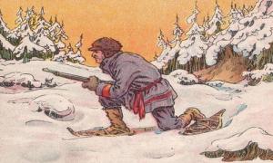 Chú gấu đã nấp ở đâu để trốn khỏi sự truy đuổi của bác thợ săn?