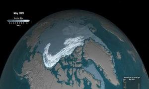 Quá trình biến mất của 90% băng vĩnh cửu Bắc Cực trong 32 năm