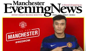 Ảnh chế Tiến Dũng đến Man Utd, Real muốn có Quang Hải