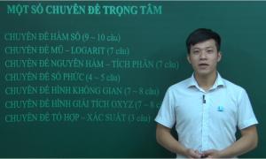 Khoanh vùng 7 chuyên đề trọng tâm môn Toán THPT
