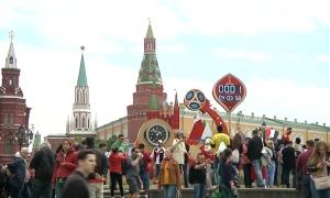 Đường phố Moscow tràn ngập trong không khí bóng đá