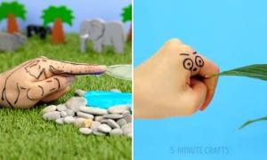 Những cách vẽ sáng tạo lên bàn tay