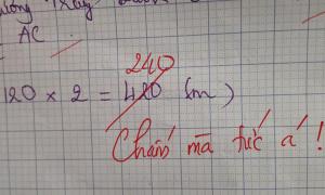 Học sinh làm sai phép toán dễ khiến cô giáo 'chấm mà tức'