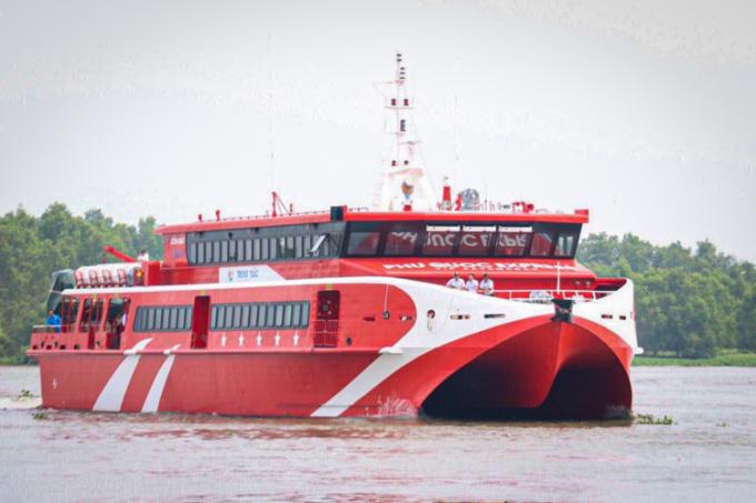 Tàu cao tốc đầu tiên từ Cần Thơ đi Côn Đảo