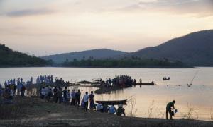 Học sinh mất tích trên hồ thủy lợi