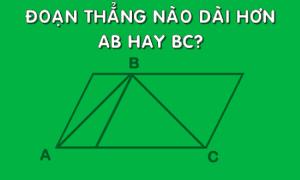 Đoạn thẳng AB hay BC dài hơn?