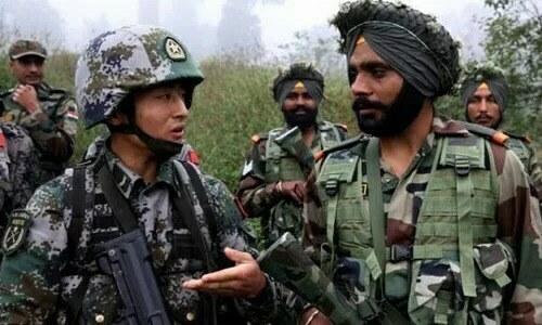 Lính Trung - Ấn ẩu đả ở biên giới