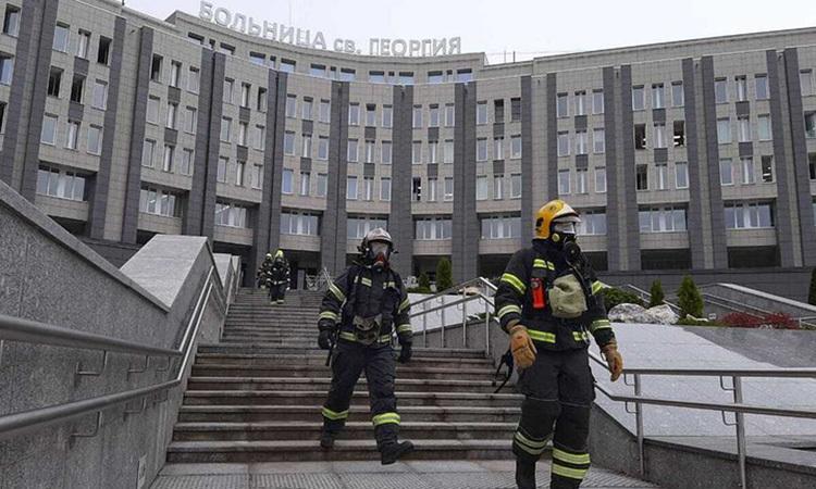Cháy bệnh viện Nga, 5 bệnh nhân Covid-19 thiệt mạng
