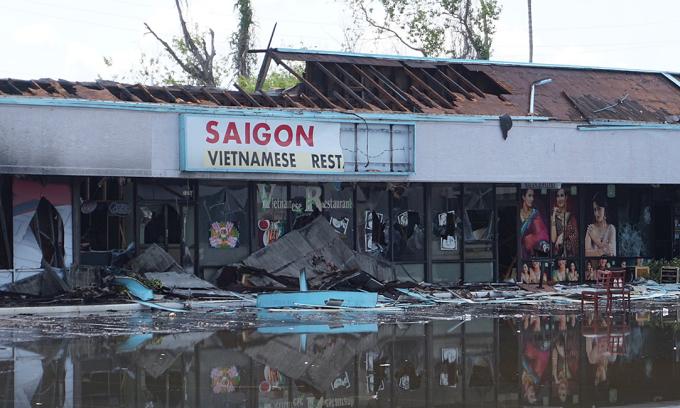 Nhà hàng Việt ở Mỹ bị thiêu rụi trong biểu tình