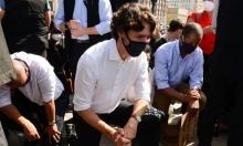 Thủ tướng Canada quỳ gối cùng người biểu tình
