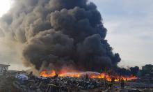 Hàng nghìn hộ dân bị mất điện do cháy nhà kho