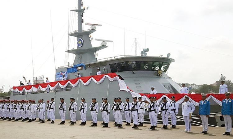 24 chiến hạm Indonesia diễn tập trên Biển Đông