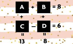 A, B, C, D lần lượt là số mấy?