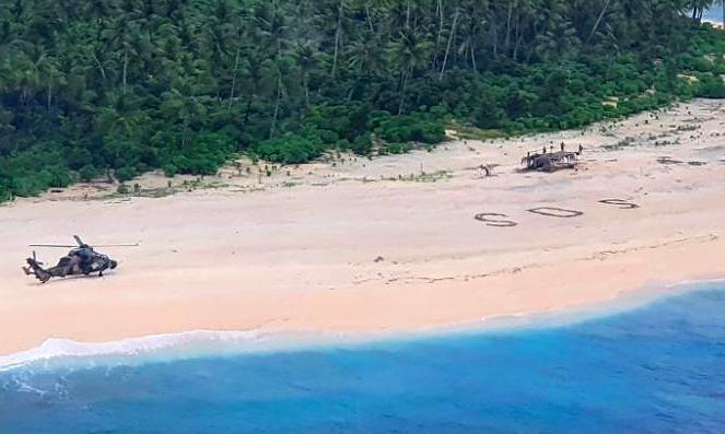 Được giải cứu khỏi đảo hoang nhờ dòng chữ SOS